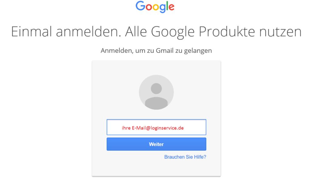 Gmail Login EMail eingeben