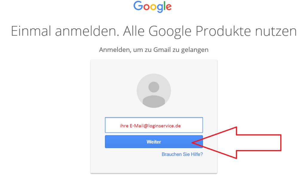 Gmail Login EMail weiter