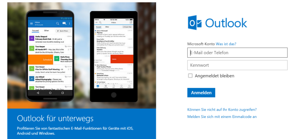 Outlook Login Seite