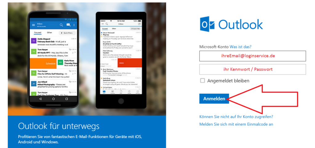 Outlook Login Seite Anmelden