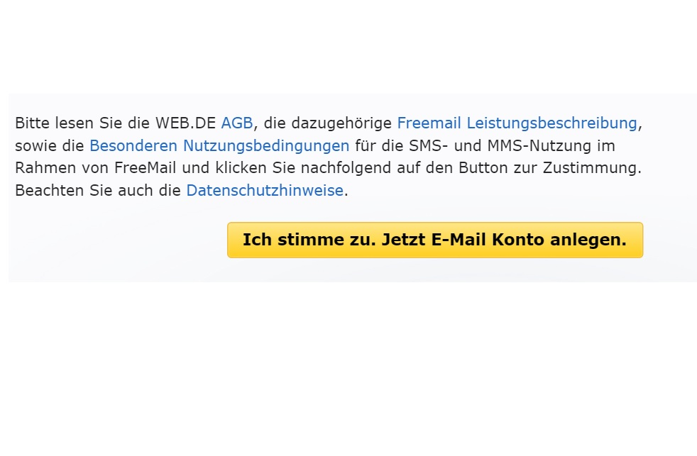 Web.de E-Mail Konto kostenlos erstellen 4