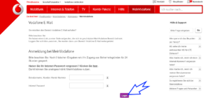 Vodafone.de Freemail Login Button