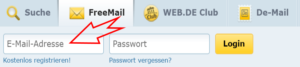 Web.de Freemail Login EMail Adresse