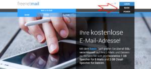 Freenet Mail Login auswählen
