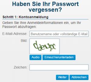 O2 Mail Passwort vergessen