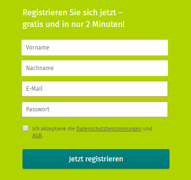 Xing registrieren