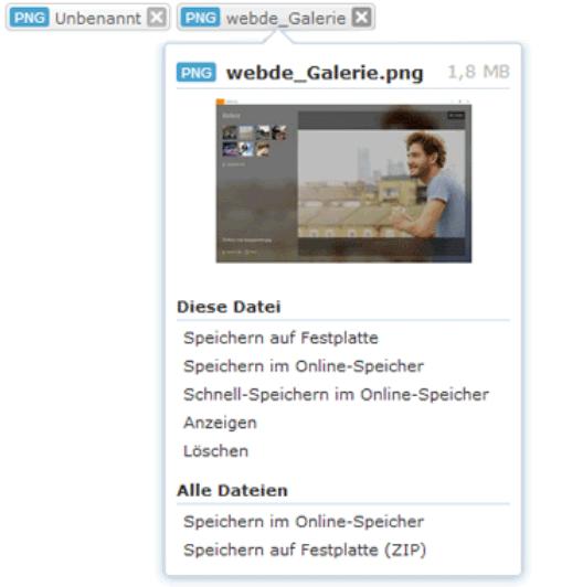 Web.de E-Mail Anhänge speichern